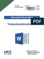 Microsoft Word 2013 Tastenkombinationen