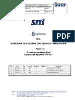 Procedimiento para  Apertura de Accesos Con Equipos y Maquinaria Rev C