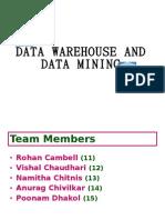 Data Warehousing and Mining