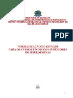 201_normas de Estagio - Curso Tecnico e Superior - 1 Maio