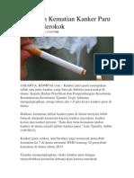 70 Persen Kematian Kanker Paru Karena Merokok