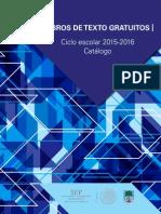 2015-07-21 Catalogo Libros Texto Gratuitos 2015