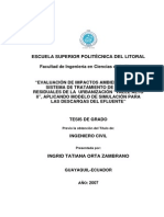 Evaluación de Impactos Ambientales Del Sistema de Tratamiento de Aguas Residuales