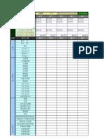 版 本 編 號 大項 細項分類 每月現金累計總額