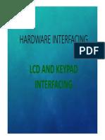 6.3 LCD AND KEYPAD
