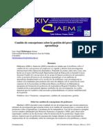 Bohórquez - 2015 - Cambio de Concepciones Sobre La Gestión Del Proceso Enseñanza- Aprendizaje