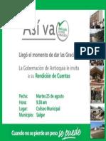 Rendición de Cuentas de la Gobernación de Antioquia