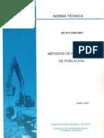 Norma Tecnica Nt-011-Cna-2001 Proyeccion de Poblacion