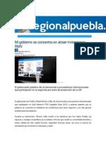 21-08-2015 RegionalPuebla.mx - Mi Gobierno Se Concentra en Atraer Inversiones, RMV