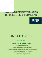 Proyecto de Distribuciòn de Redes Subterràneas