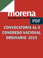 Convocatoria Al II Congreso Nacional de Morena