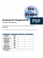 6to Grado - Diagnóstico (11-12)