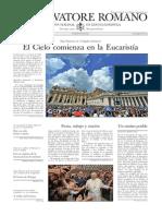 L ´OSSERVATORE ROMANO - 21 Agosto 2015
