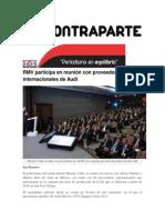 21-08-2015 Contraparte - RMV Participa en Reunión Con Proveedores Internacionales de Audi