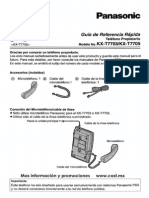 KX-T7705 Panasonic Manual Guia de Referencia Rapida