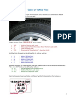 Codes on a Vehicle Tire