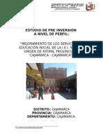 Mejoramiento de la I.E. María de Fatima, Distrito Cajamarca,Provincia Cajamarca,Cajamarca