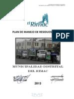 Rimac Plan de Manejo de Residuos Solidos - 2013