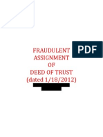 Fraudulent Assignment of Dot