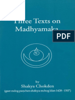 Three Texts on Madhyamaka