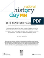 National History Day Teacher Framework 2016