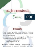 Aula 2 - Reacoes Inorganicas