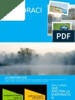 EVAPORACIÓN - Presentación - Hidrologia