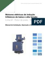 WEG Motores de Inducao Trifasicos de Baixa e Alta Tensao Rotor de Aneis Vertical 11299500 Manual Portugues Br
