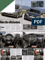 Comparación Golf - Mazda