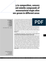 Campus M., Et Al. Variability in Composition, Sensory Profiles and Volatile Compounds of Sardinian Monovarietal Virgin Olive Oils Grown in Different Areas