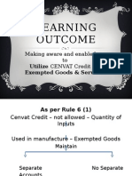 Chapter - 9 CENVAT Credit - Exempted Goods and Services