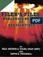 Filer's Files, Worldwide Reports of UFO Sightings - George A Filer, David E Twichell.pdf