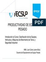 Sesión 01 - Productividad de Equipo Pesado