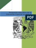 Respuesta educativa de la Educación Especial en el D. F