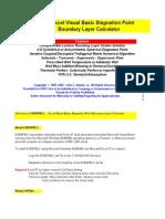 Boundary Layer Calculator-EVBSPBLC