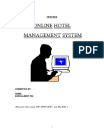 Synopsis of hotel management system