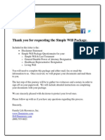 Simple Will Package Questionnaire 2013