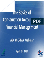 ABC Basics of Construction Accounting Webinar April 2013