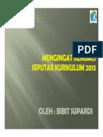 Ringkasan Materi Kurikulum 2013