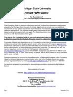 Formatting Guide September 2014