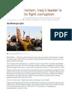 Beyond Terrorism, Iraq's Leader is Struggling to Fight Corruption