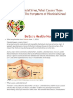 What is a Pilonidal Sinus, What Causes Them and What Are the Symptoms of Pilonidal Sinus