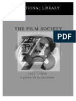 Bfi the Film Society 1925 1939 a Guide to Collections