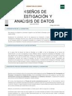Guía Asignatura Diseños de Investigación y Análisis de Datos 2015-2016