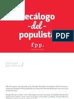 Decalogo Del Populista