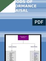 Methods of Performance Appraisal