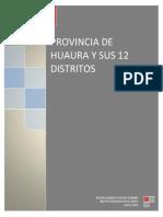 provincia de huaura y sus 12 distritos