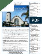Bulletin for August 16, 2015