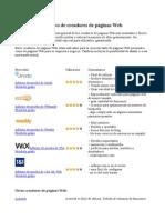 Cuadro Comparativo de Creadores de Páginas Web