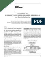 Factibilidad Del Proyecto de Maquinaria Agricola Del Rancho La Lomita